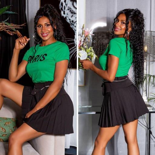 Camiseta básica PARIS verde
