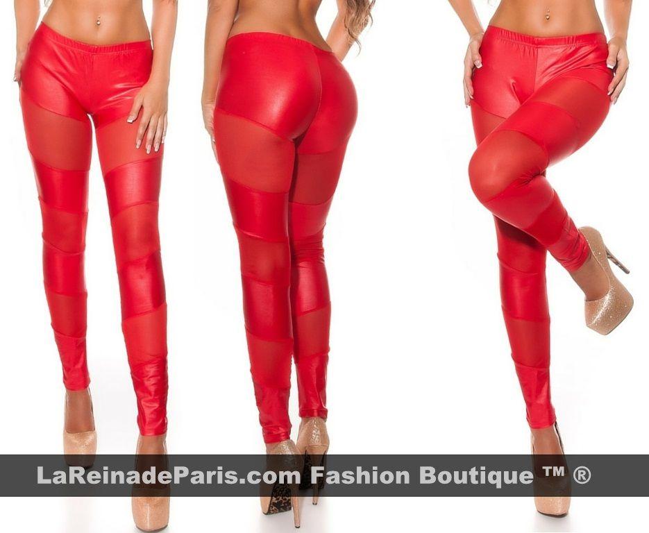 Leggings rojos atractivos de moda