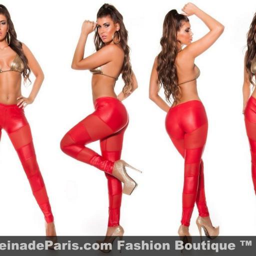 Leggings rojos atractivos de moda [2]
