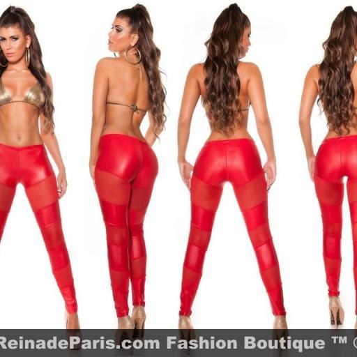 Leggings rojos atractivos de moda [3]