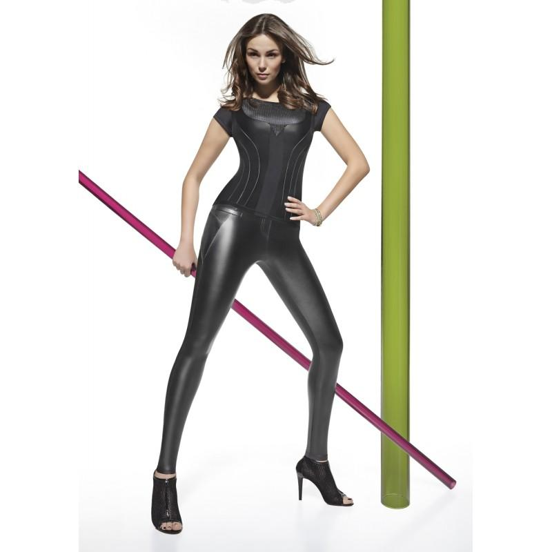 Leggings brillantes efecto vinilo