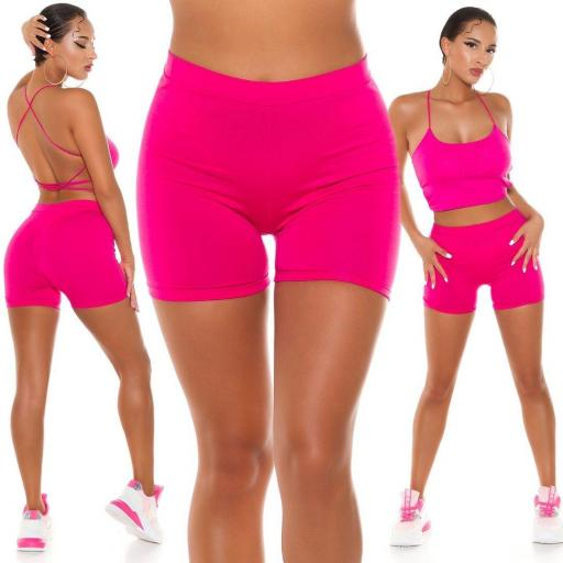 Leggings cortos rosa