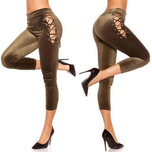 Leggings kakhi velvet [2]