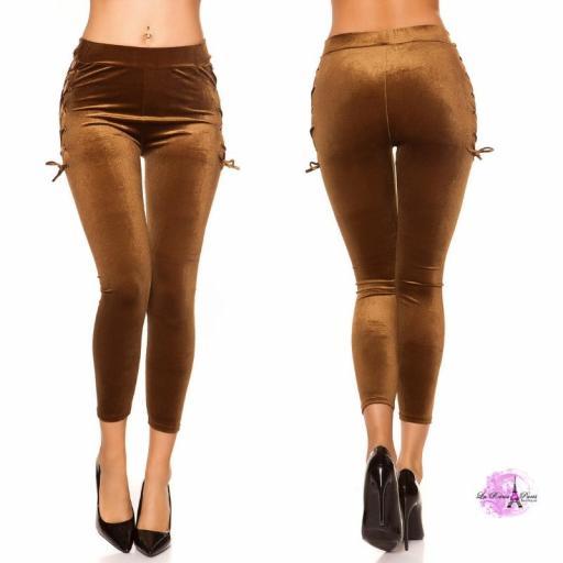 Leggings marrón velvet