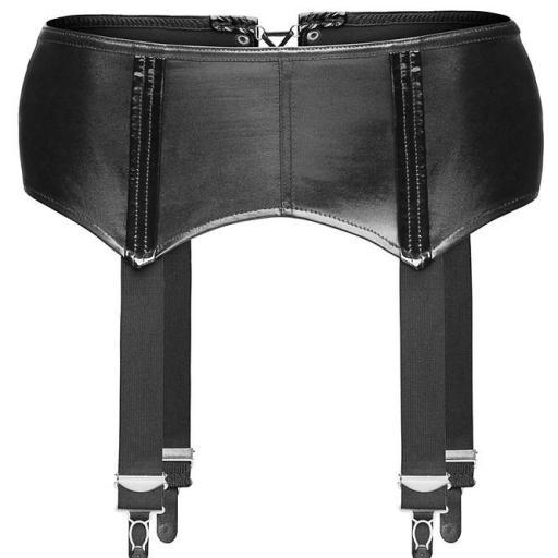 Liguero cuero negro luxury imitación [1]