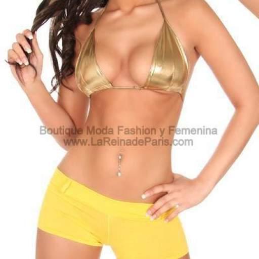 MIni Shorts pegaditos Amarillo  [2]
