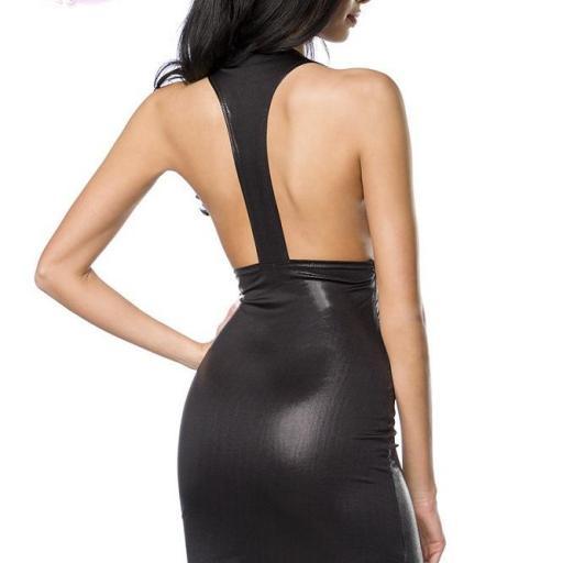 Vestido ajustado favorecedor negro [1]