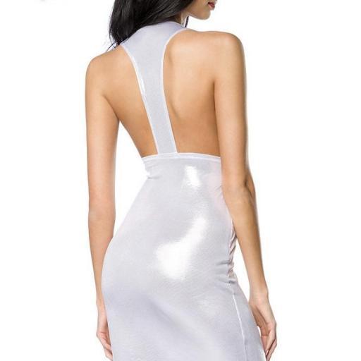 Vestido entallado favorecedor plata [1]