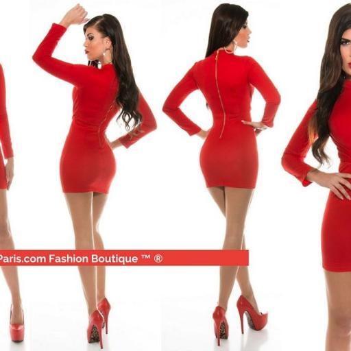 Mini vestido rojo ceñido espectacular
