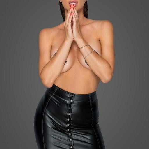 Minifalda de cuero sintético ecológico
