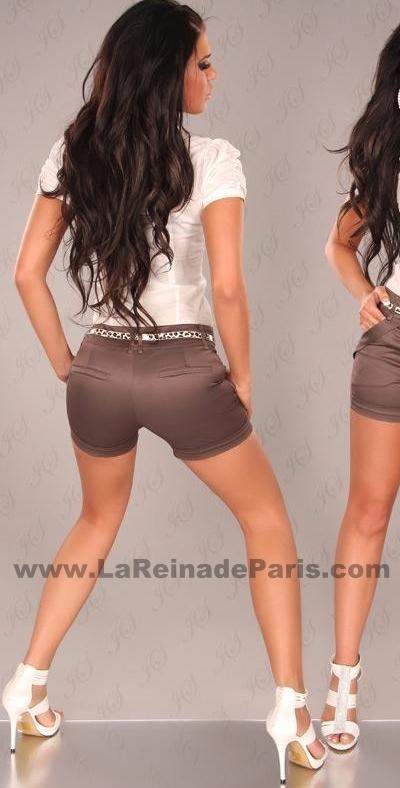 Pantalón corto ajustado descuento online