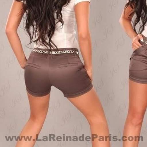 Pantalón corto ajustado descuento online [0]