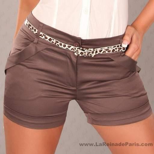 Pantalón corto ajustado descuento online [2]