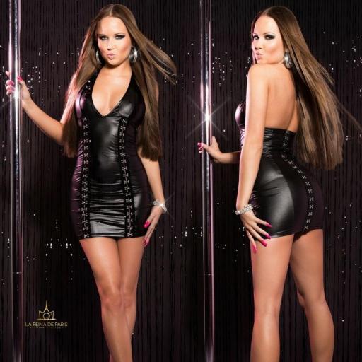 Vestido negro con cierre de gancho [2]