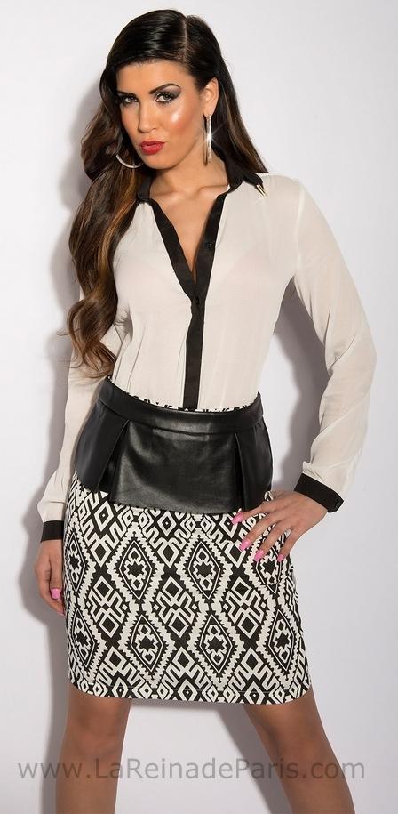 falda modelo Azteca