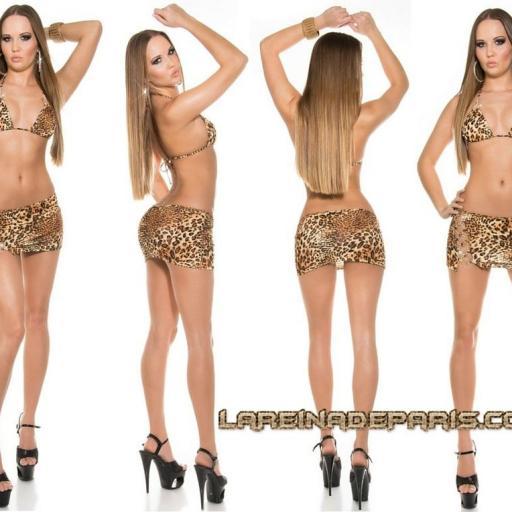 Conjunto falda+top bailarina leopardo [0]