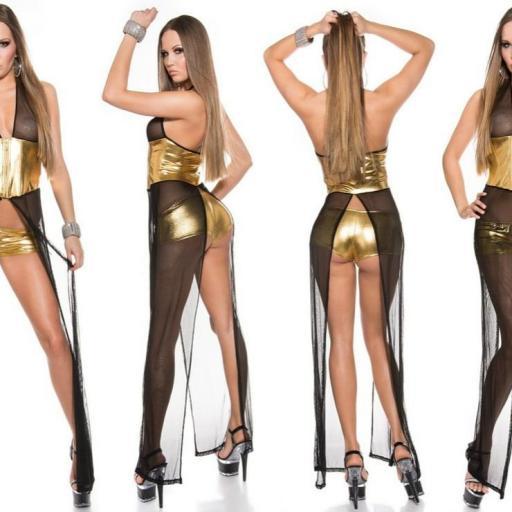 Conjunto bailarina y artistas sensual