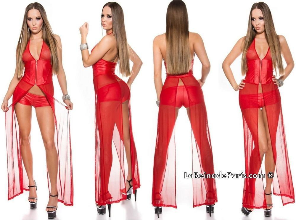 Moda gogo bailarina bustier + pantalón