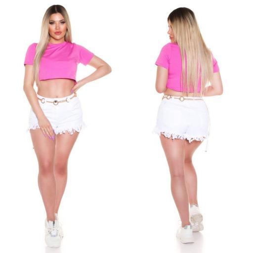 Top corto básico rosa [1]