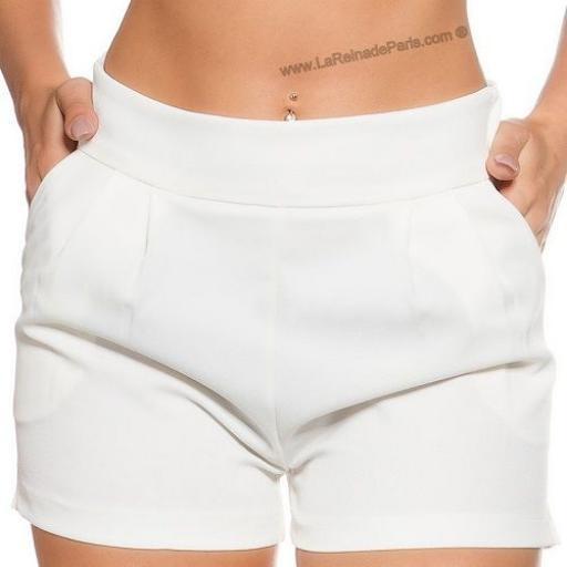 Shorts femenino blanco moda verano