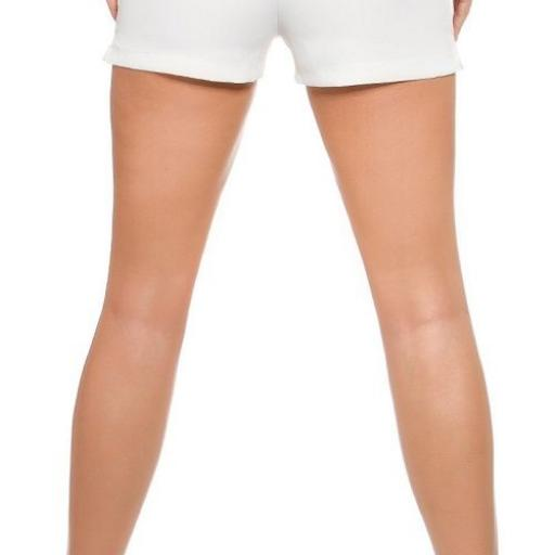 Shorts femenino blanco moda verano [1]