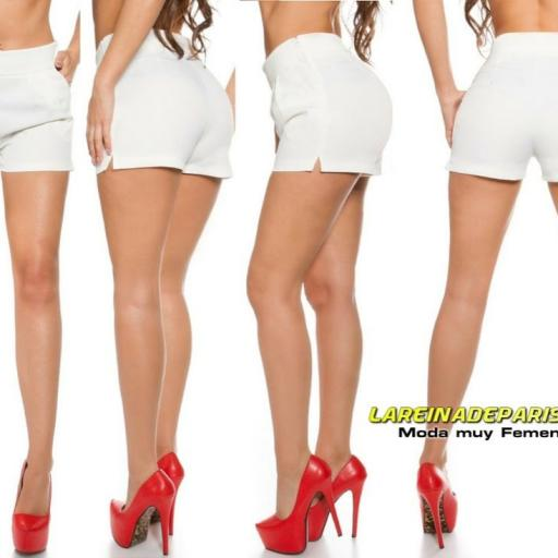 Shorts femenino blanco moda verano [2]