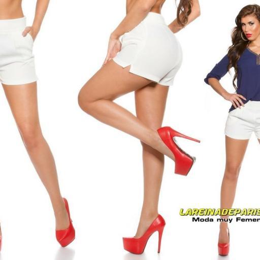 Shorts femenino blanco moda verano [3]