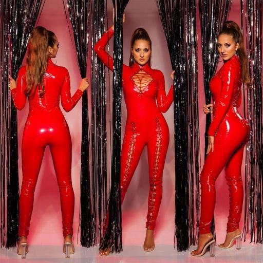 Sexy mono latex rojo [1]