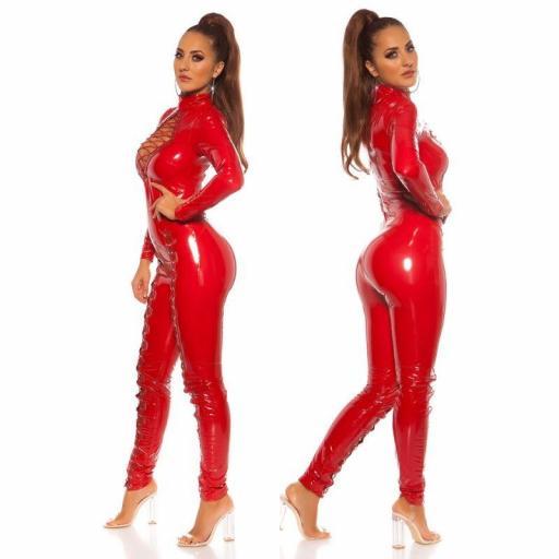 Sexy mono latex rojo [2]