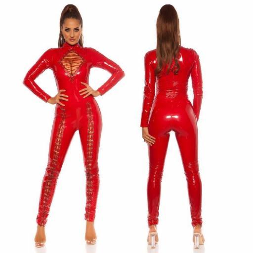 Sexy mono latex rojo [3]