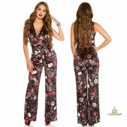 Jumpsuit velvet flowers