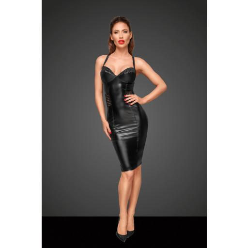 Vestido cuero oscuro y sexy [2]