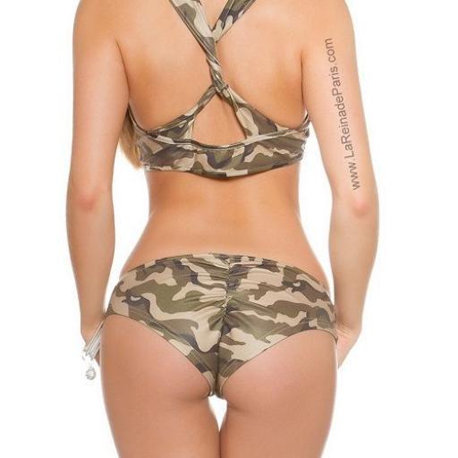 Outfit pole dance militar print [2]