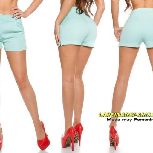 Shorts elegante y femenino menta [2]