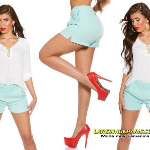 Shorts elegante y femenino menta [3]