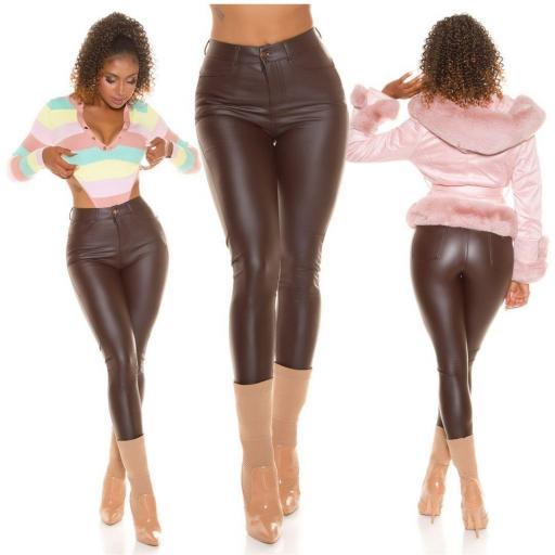 Pantalón térmico de cuero sintético