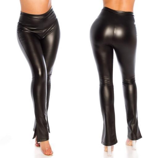 Pantalón sexy imitación cuero negro  [2]
