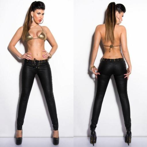 Pantalones ajustados cordones [2]