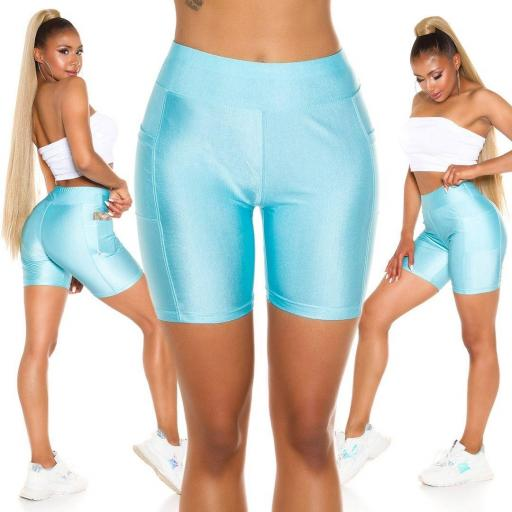 Pantalón deportivo ajustado azul