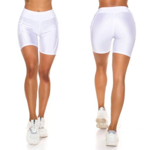 Pantalón deportivo ajustado blanco [2]