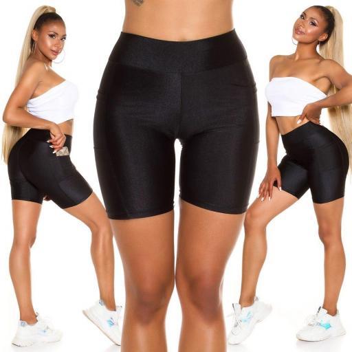 Pantalón deportivo ajustado negro