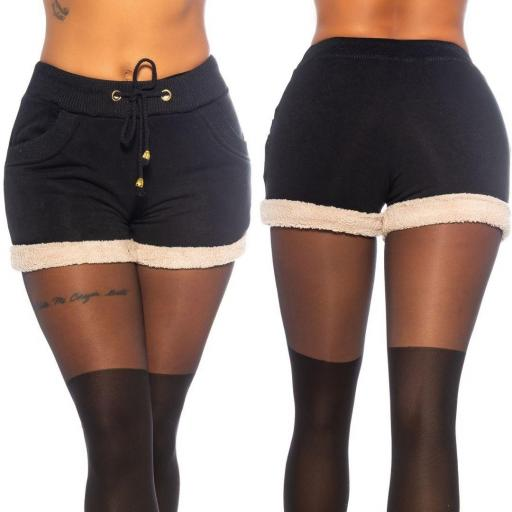 Pantalón corto peluche  [1]
