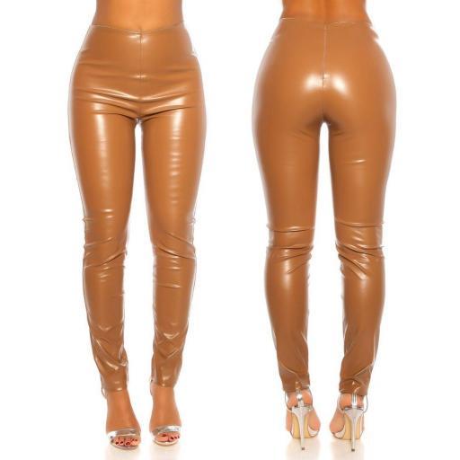 Pantalón de talle alto marrón [1]