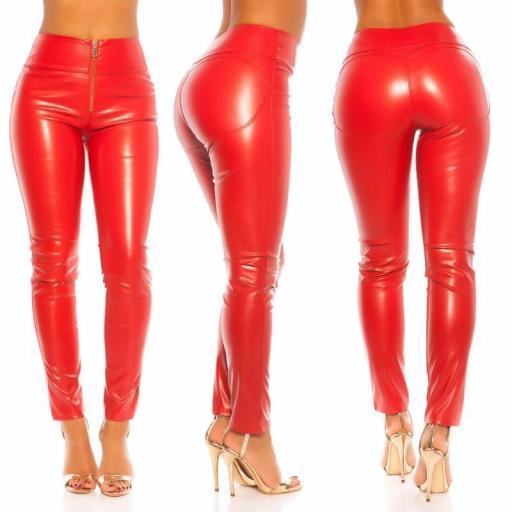Pantalón ajustado efecto piel rojo [1]