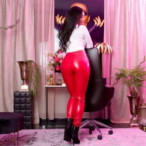 Pantalón ajustado efecto piel rojo [3]