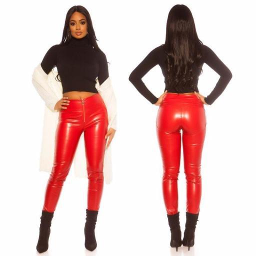 Pantalón ajustado efecto piel rojo [2]