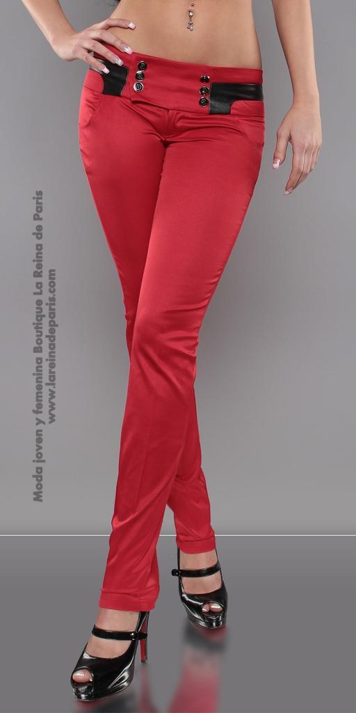 Pantalones ajustados AUM Rojo