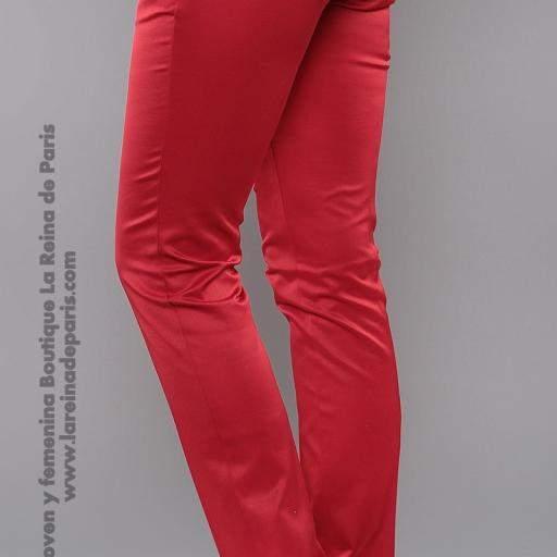 Pantalones ajustados AUM Rojo [2]