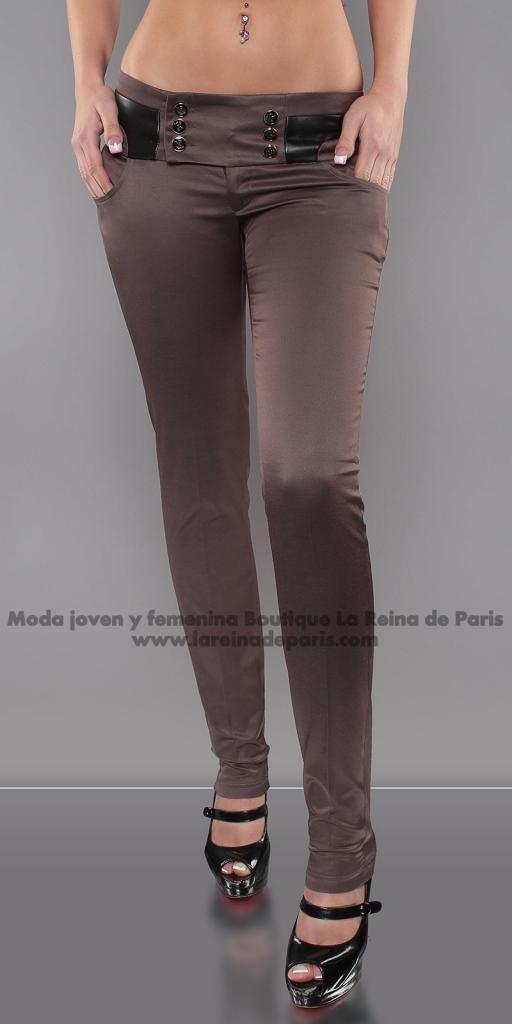 Pantalones brillantes AUM Marrón