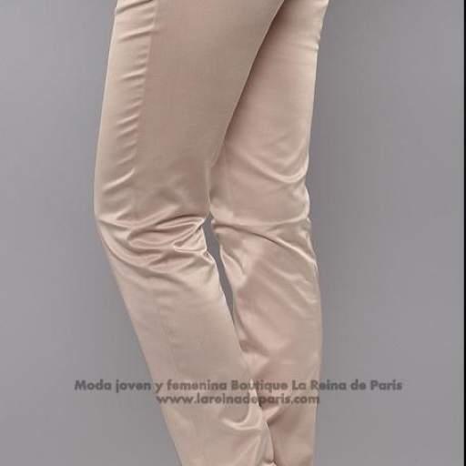 Pantalones brillantes AUM beige [1]